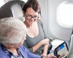iPad no avião