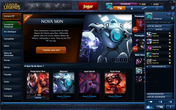 League of Legends no Mac OS X
