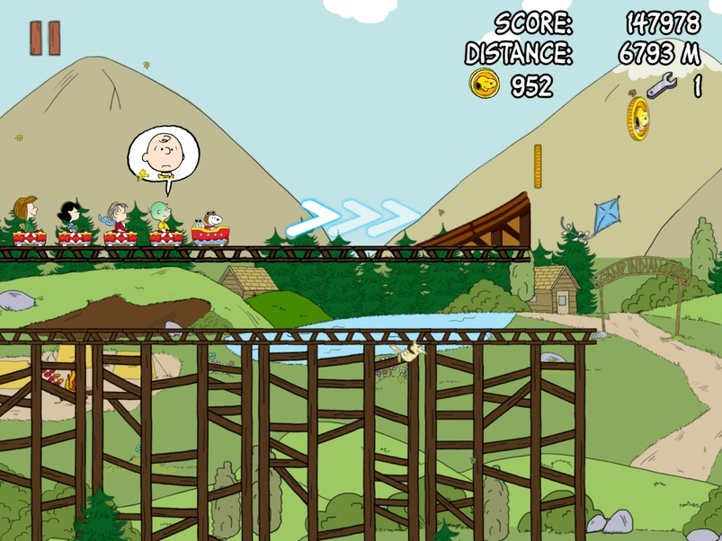 Screenshot de Snoopy Coaster