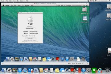 OS X Mavericks rodando no Parallels Desktop 8
