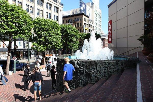 Fonte em San Francisco, na Union Square