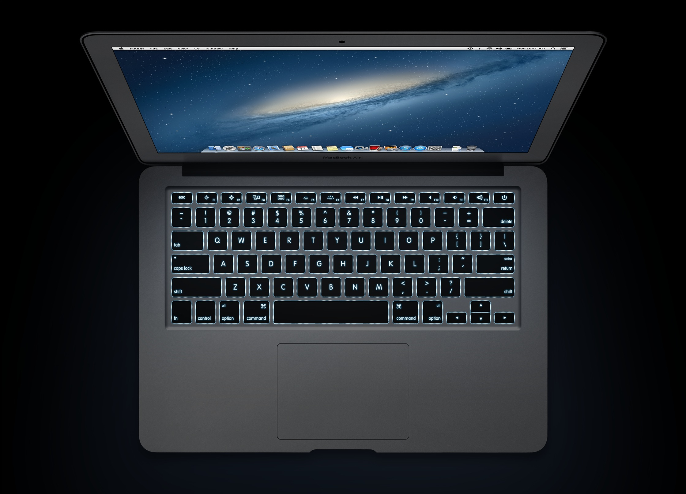 MacBook Air com teclado iluminado