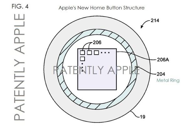 Patente do botão Home com sensor biométrico