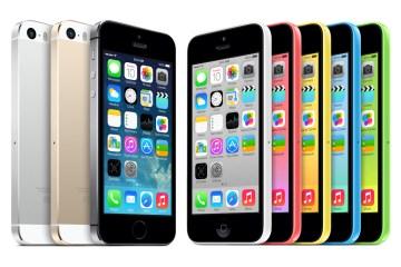 iPhones 5s e 5c