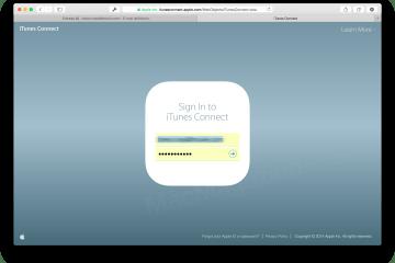 Novo painel iTunes Connect