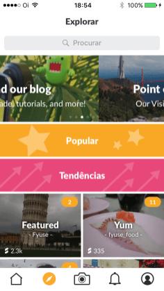 Screenshot do app Fyuse