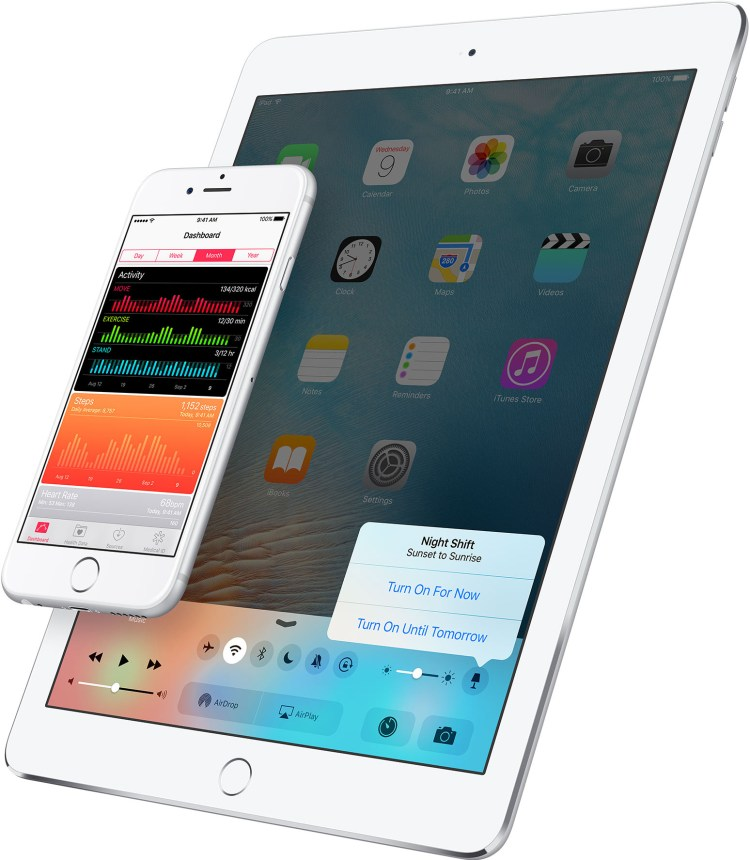 Night Shift na Central de Controle do iOS 9.3