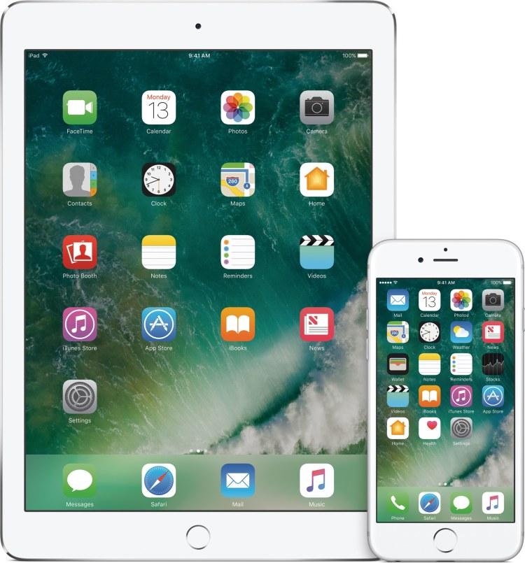 iOS 10 num iPad e num iPhone