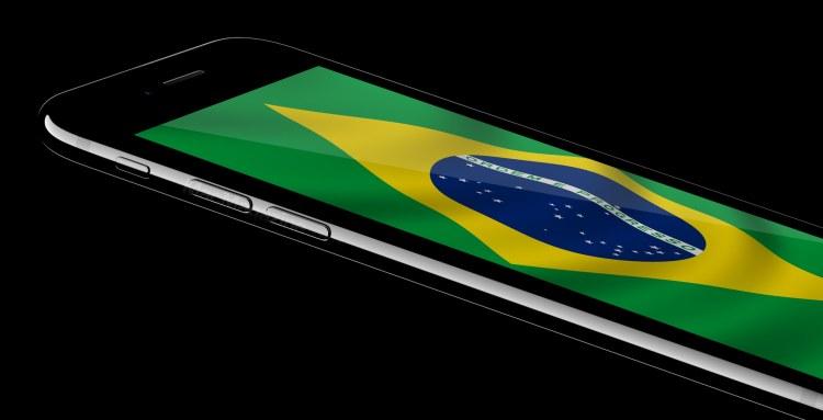 iPhone 7 jet black com a bandeira do Brasil (by MacMagazine)