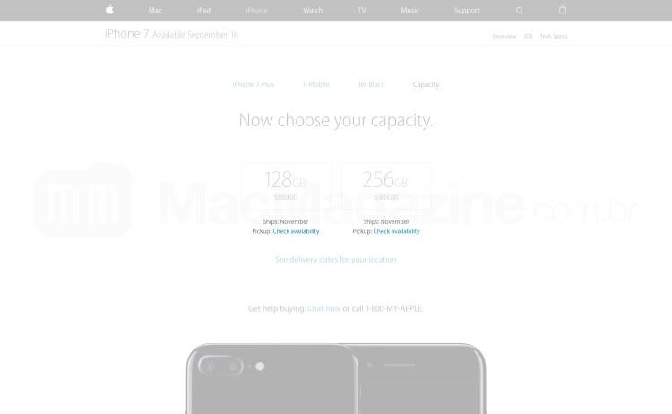 Estoque do iPhone 7 Plus preto brilhoso