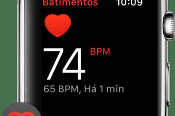 Frequência cardíaca do Apple Watch