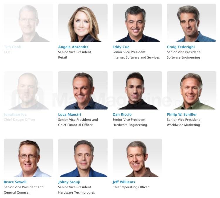 Executivos da Apple agraciados com uma nova rodada de ações restritas
