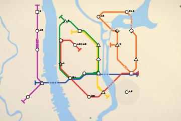 Jogo Mini Metro para iOS