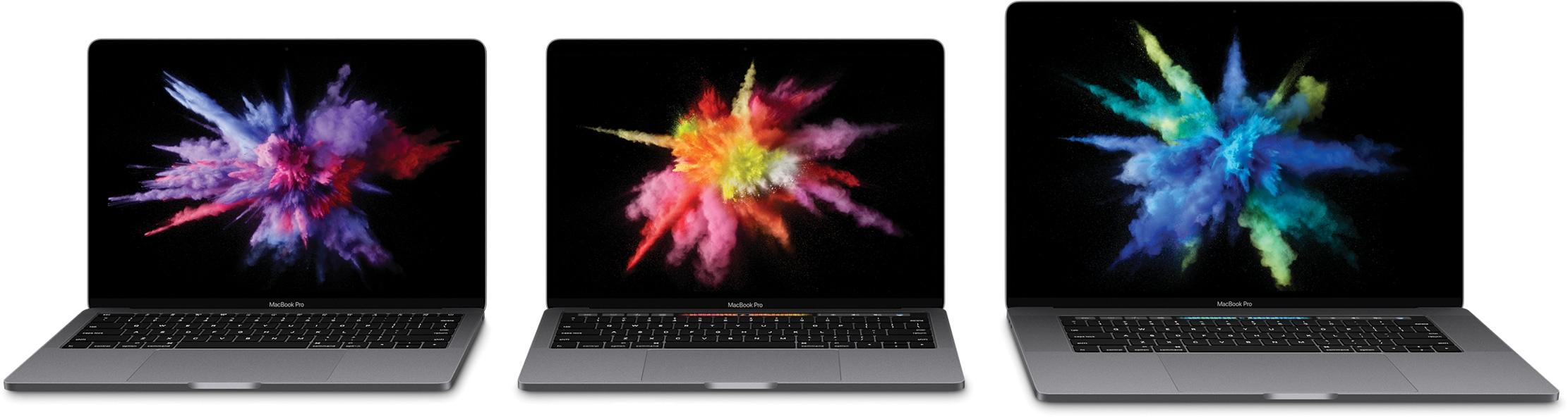 Nova linha completa de MacBooks Pro
