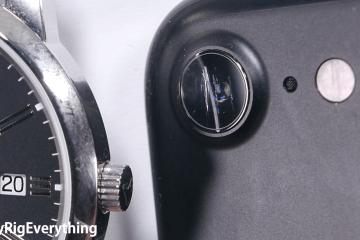 Teste de resistência da lente do iPhone 7