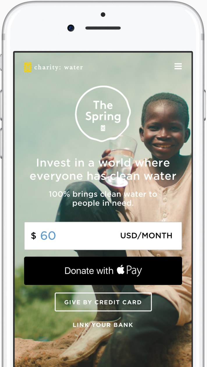 Apple Pay doações iOS