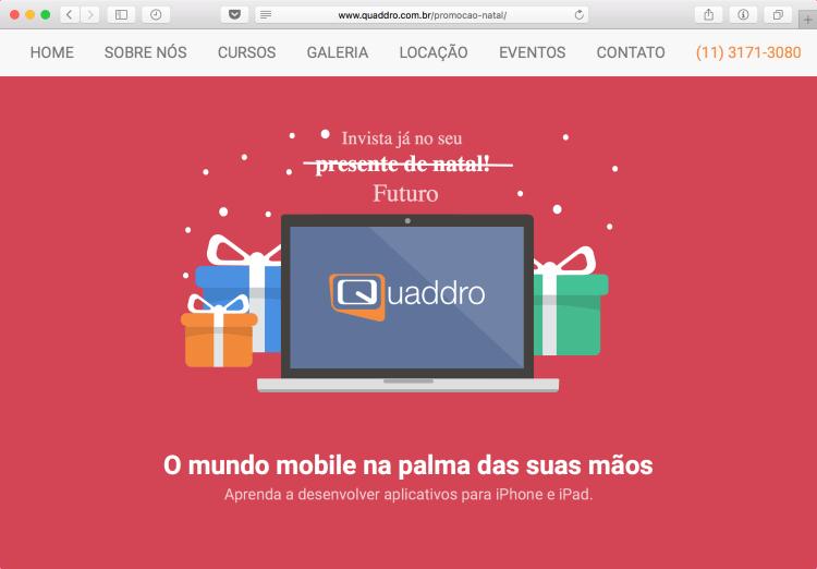 Promoção de Natal da Quaddro