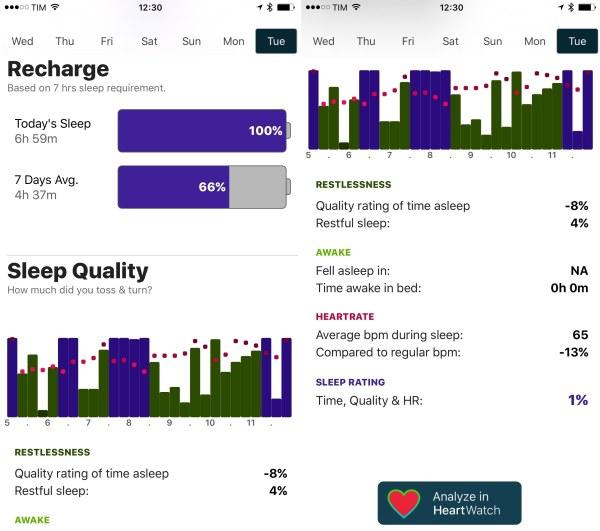 AutoSleep, app para monitoramento de sono