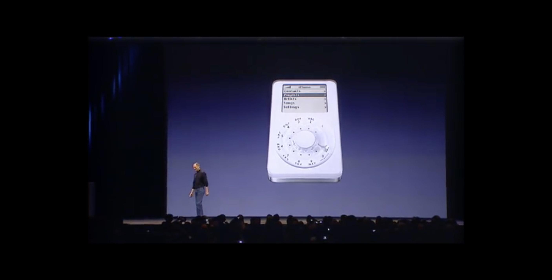 Steve Jobs na apresentação do iPhone, em 2007