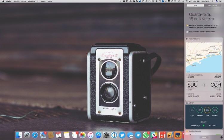 App TodayFlights para macOS