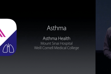Asthma Asma e ResearchKit na keynote da Apple
