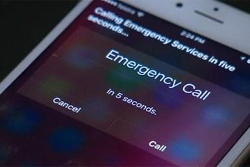 Ligando para a emergência pela Siri