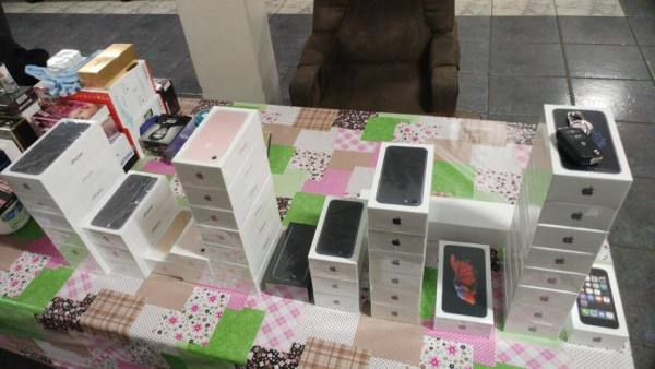 iPhones apreendidos pela Polícia Rodoviária Federal