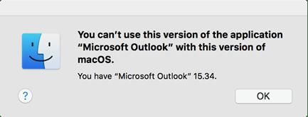 Office incompatível no macOS High Sierra