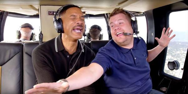 Will Smith e James Corden -