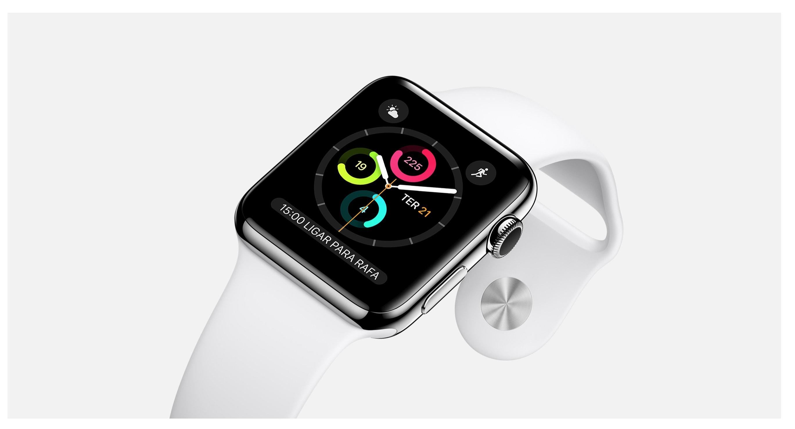 Apple Watch de aço inoxidável