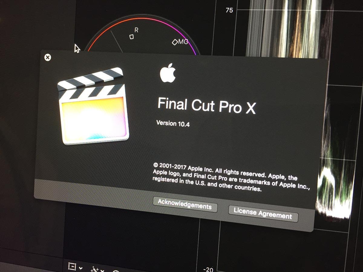 Demonstração do Final Cut Pro X 10.4
