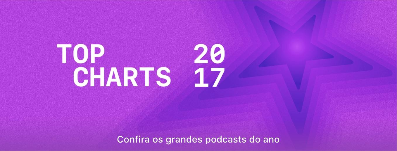 Banner de Top Charts de podcasts da iTunes Store
