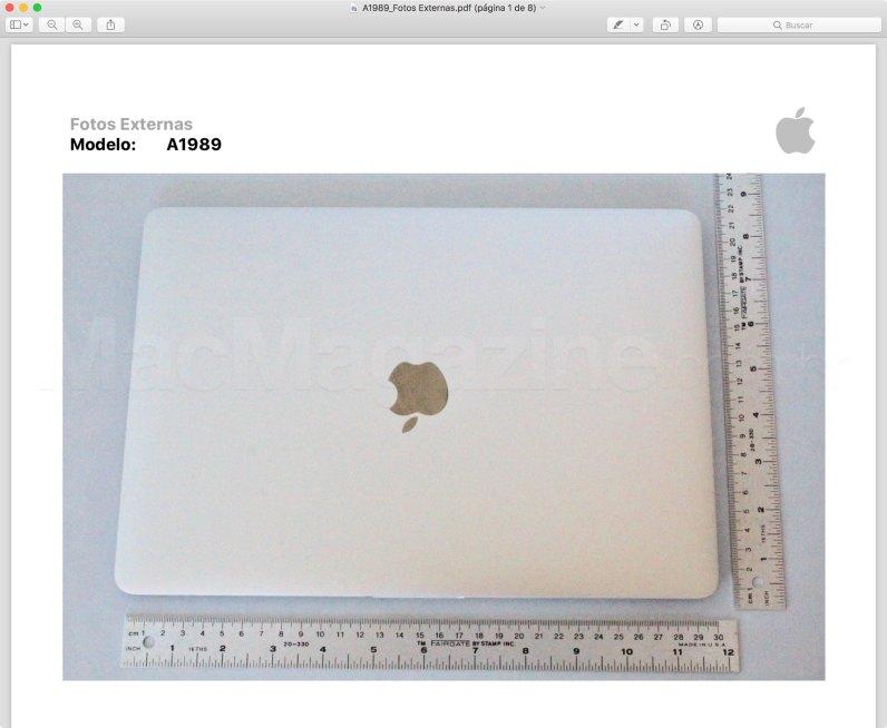 Homologação do novo MacBook Pro de 13 pol.