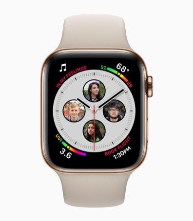 Apple Watch Series 4 com mostrador de contatos