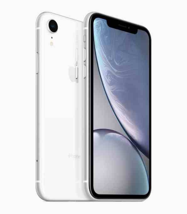 iPhone Xr branco de frente e de trás