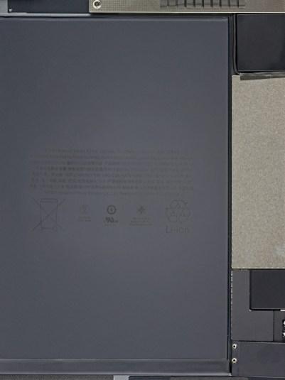 Wallpaper da iFixit com componentes internos do novo iPad mini