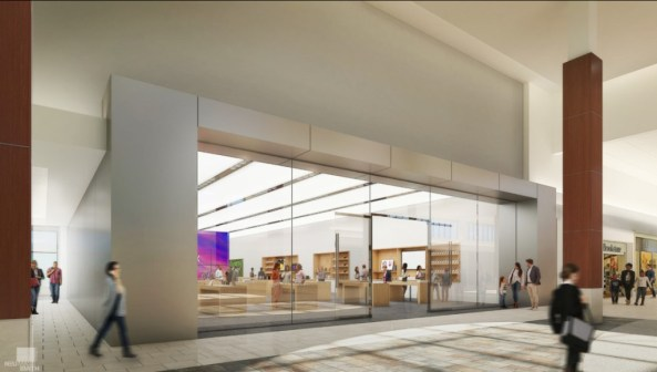 Renders da suposta nova Apple Cherry Hill, em Nova Jersey (EUA)
