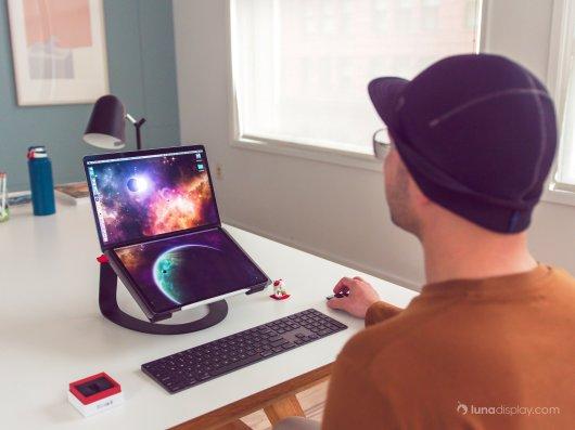 Conceito de Mac dobrável com o Luna Display