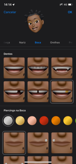 Novas opções de personalização para Memojis