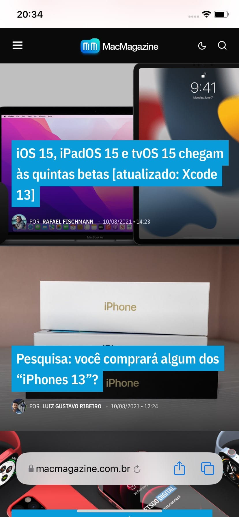 Novidades do iOS 15