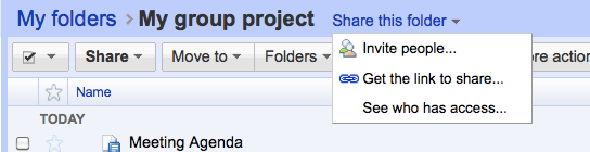 Google Docs - Compartilhamento de Pastas