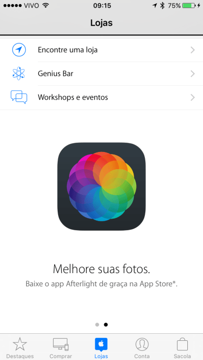 Afterlight de graça pelo Apple Store