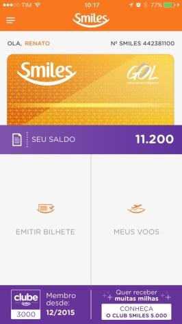 App do Smiles para iPhone
