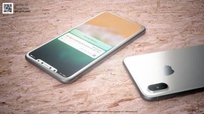 """Mockup/render do """"iPhone 8"""" branco"""
