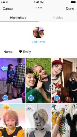 Novo recurso para destacar histórias do Instagram