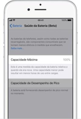 Saúde da Bateria no iOS 11.3