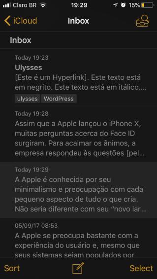Ulysses iOS