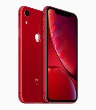 iPhone Xr vermelho de frente e de trás, série (PRODUCT)RED