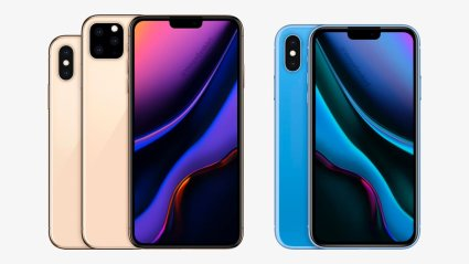 Conceito da linha de iPhones para 2019