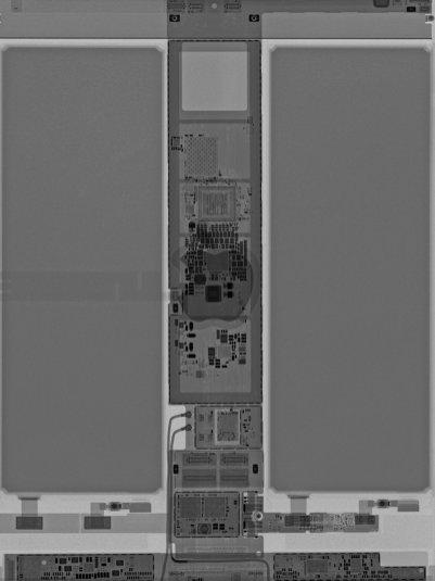 Wallpaper da iFixit com componentes internos do novo iPad Air